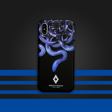 Marcelo Burlon MB cases for iphone 6 6plus 6s plus 7 7plus 8 X hard PC luxury plastic phone cover Fashion Tide Blue snake case