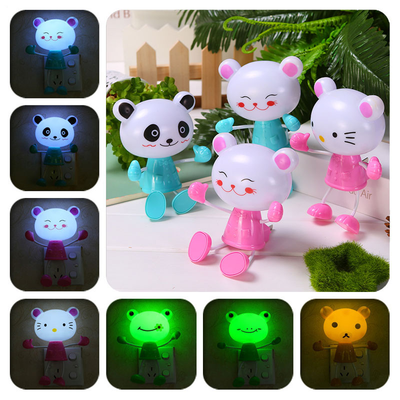 Newest Cartoon Frog/monkey/bear Table Lamps Kids Bedroom Led Lamp Sleeping Lamp Decoration Lights Led Table Lamps - Led Lamps