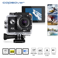 capsaver 4K HD 1080P Video Camera Sport DV WIFI Waterproof DVR Camcorder Remote Control Cam DV Wide Angle Video Action Recoder