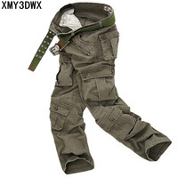 Classic Pants Water Wash Overalls 7 Male Camouflage Plus Size Bags Casual Pants 022 P65