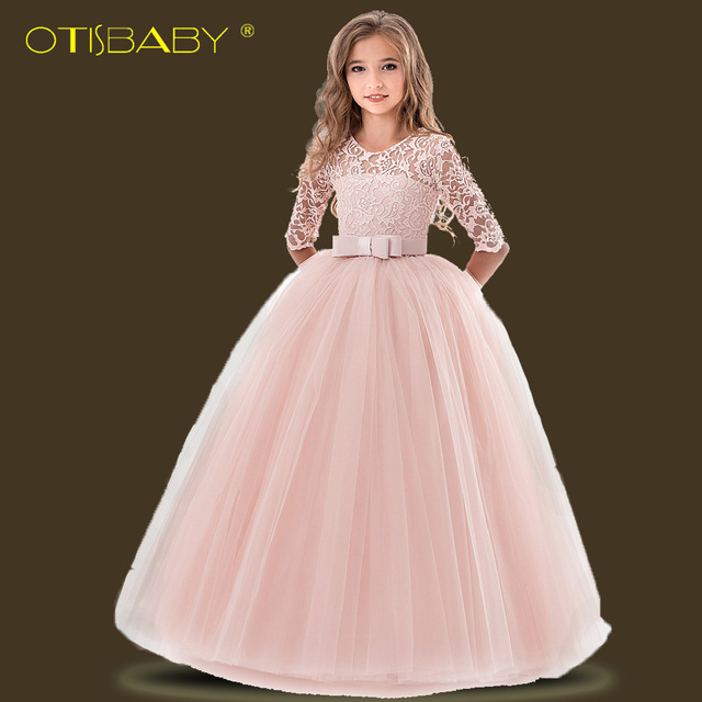 f816510d307e Formal Kids Voile Lace Flower Wedding Dresses Children s Wear Child ...
