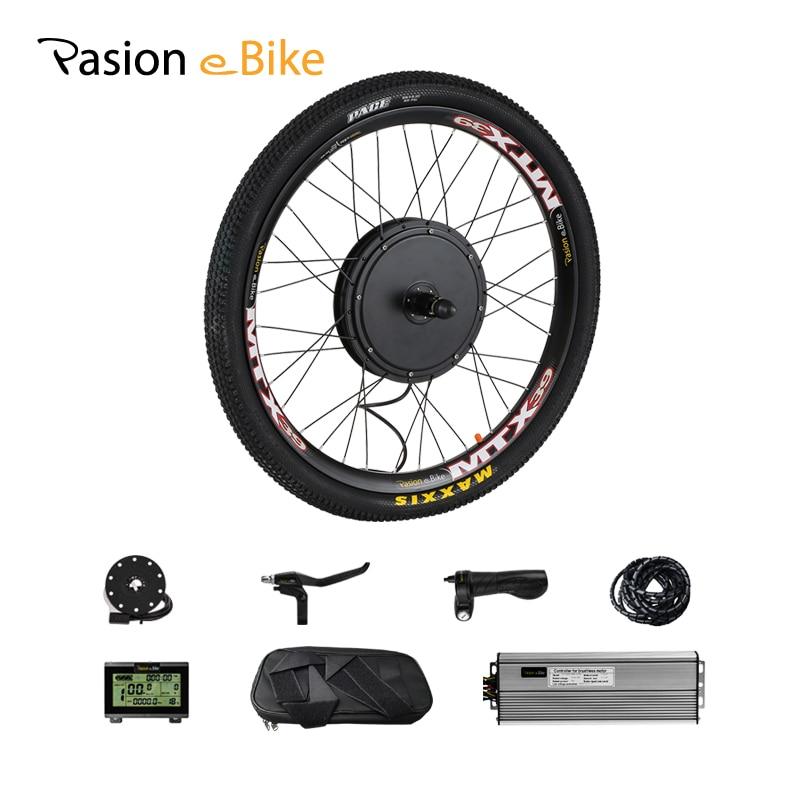 Pasion E Kit de Conversion de vélo 48 V 1500 W Kit de Conversion de vélo électrique Cassette 1500 W Kit de moteur de roue de vélo électrique