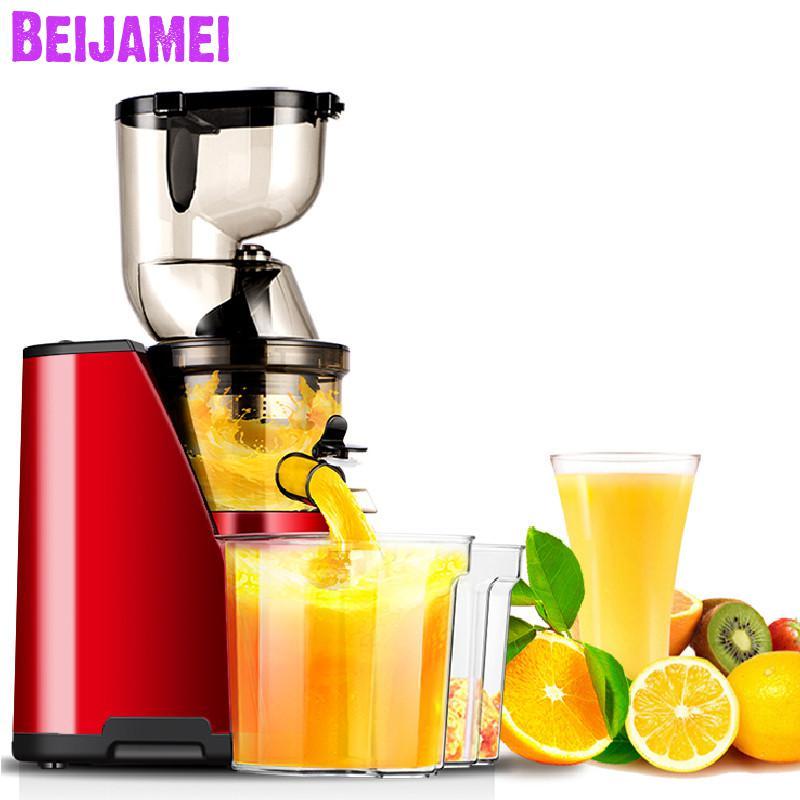BEIJAMEI 80mm High Yield Slow Juicer Commercial Fruit Juicer Electric Fruit Vegetable Juicer Carrot Juicer For