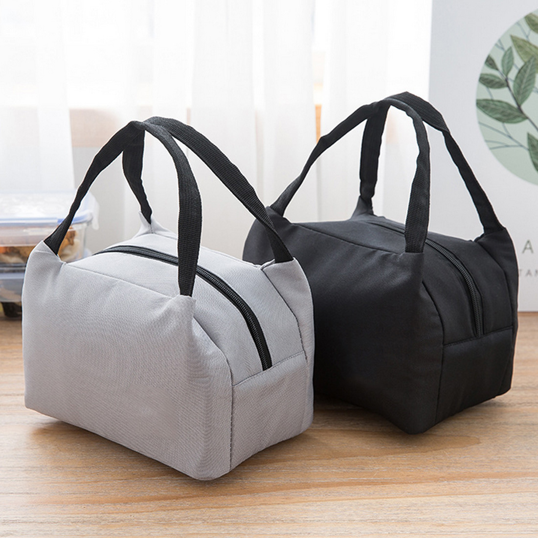 New Insulated Canvas Box lunch bag food bag lunchbox school child Insulated Canvas Box Tote Bags Thermal Cooler in Lunch Bags from Luggage Bags