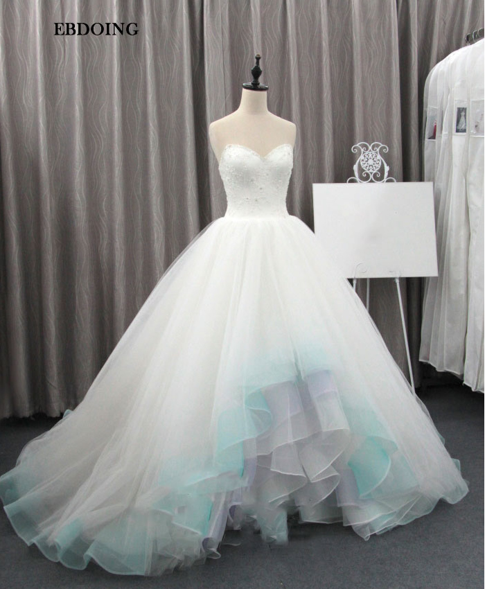 Real photo Robe De Mariage Wedding Dresses Vestidos De Novia Mermaid Ball Gown Sweetheart Beaded Lace Custom Made