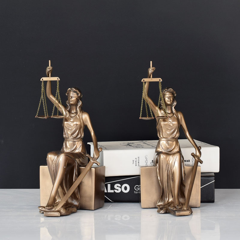 Creative Imitation Bronze Statue Goddess Justice Bookcase Office Presents Gifts For Lawyers Goddess Justice Decoration Crafts