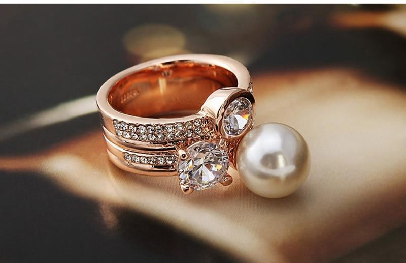 2016 супер луксозен кристал CZ W перлен - Модни бижута - Снимка 5