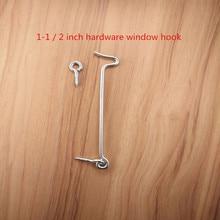 Free shipping 1.5 inch Hardware door window window hook / with sheep eyes / sheep eye bolt / window brace