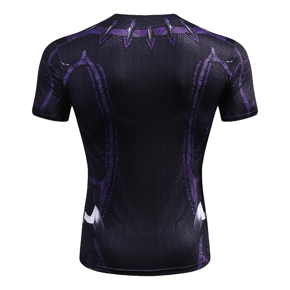 Black Panther T Shirt Compression Shirt Tops 2