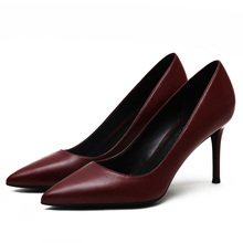 Hot Sale Brand Design Women Spring Pumps Pointed Toe Female Slip On Party Shoes Classic High Heels Ladies Plus Size F0061