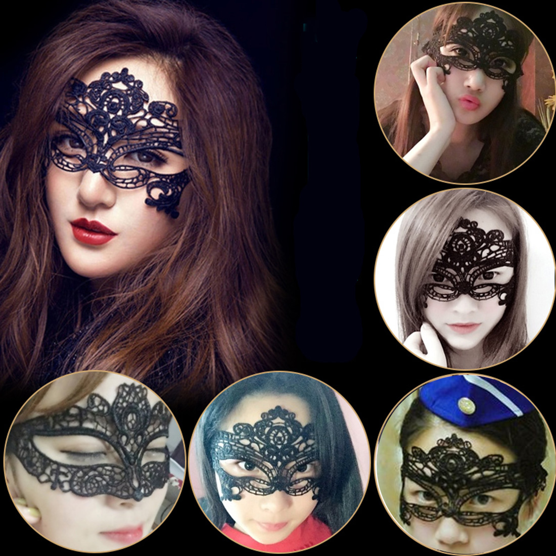 Fashion Sexy Lace Eye Mask Venetian Masquerade Ball Party Fancy Dress Costumes Lady Gifts Party Masks For Anonymous Carnival