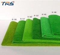 2ピース50*250センチグリーンカラーモデル草マットシート地形景観建築材料砂ターフ