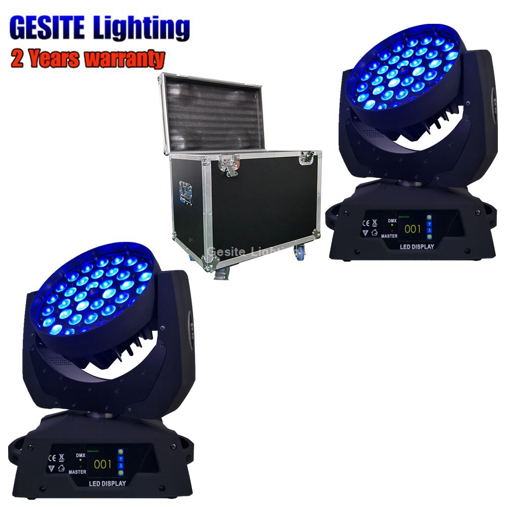 2unit Flight Case Robe Robin 600 Wash Zoom 5in1 Rgbwa 36x15w Led Moving Head Latest Technology Lights & Lighting Stage Lighting Effect