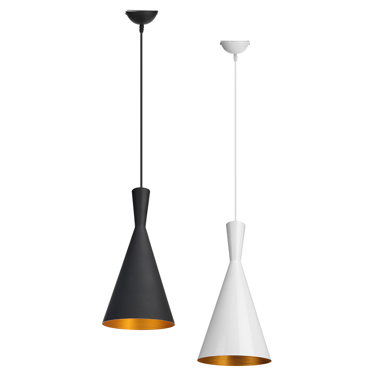 Vintage Retro Style Modern Metal Decor Pendant Light Shade Lampshades For Living Room Coffee Shop White Black