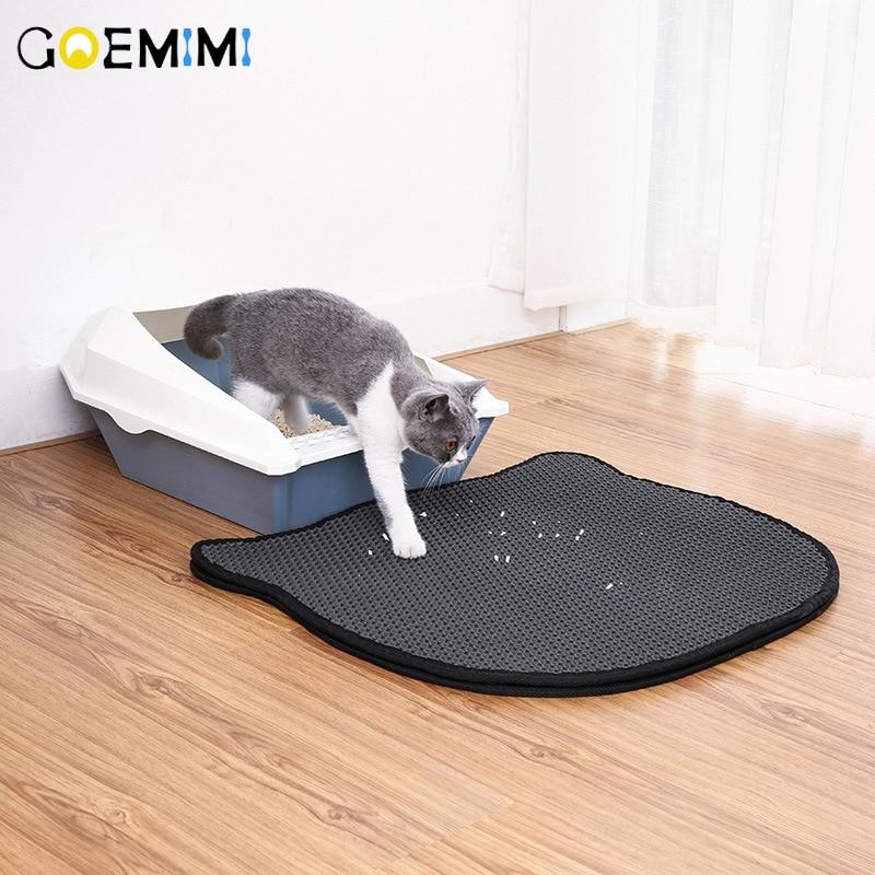 Cat Litter Stretch Matte Double-Layer EVA Rug Bottom-Layer gatos camas para Supplies Beds & Mats