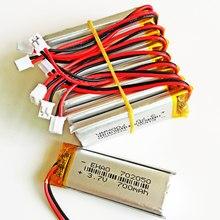 10 sztuk JST PH 2.0 2pin 3.7 V 700 mAh 702050 Litowo-polimerowa LiPo akumulator do Mp3 słuchawki PAD DVD bluetooth kamera