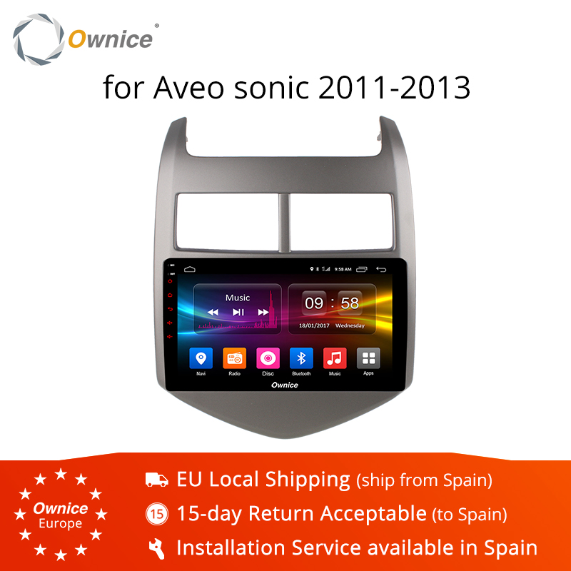 Ownice K1 K2 K3 Android 9.0 CAR Audio DVD player FOR Cheverolet aveo SONIC 2011 - 2013 gps Multimedia head device unit receiver