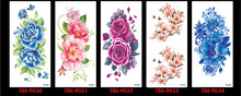 2016 24 styles New Flower Water Transfer Waterproof Temporary Tattoo Sticker Body Art Sexy Product