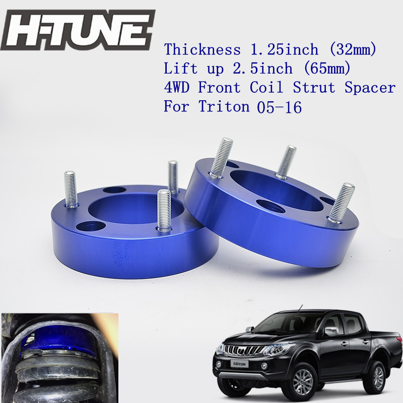 H-TUNE 4x4 Accesorios 32mm Aluminum Front Coil Strut Shock Spacer Lift Kit for Triton L200 2005-2016 h tune 4x4 accesorios 1inch suspension lift kits front coil strut shock spacer for d max 2007 2010