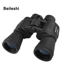 Beileshi 20X50 Binoculars 56M / 1000M Outdoor Folding Telescope BAK4 HD Vision Binocular Wide-angle Prism