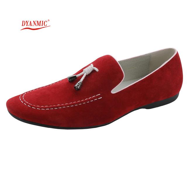 DINÁMICO Y de Moda Italiana de Los Hombres de Cuero Genuino Zapatos Casuales Para Hombre Pisos Zapatos Hombre Mocasines Mocasines Masculinos Envío Libre del Tamaño 40-45