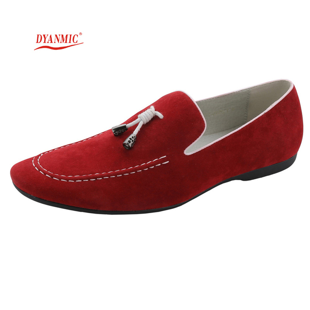 cf98538fa DYANMIC Men's Italian Fashion Genuine Leather Shoes Mens Casual Flats Shoes  Man Loafers Male Moccasins Free