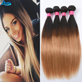 Malaysian Virgin Hair 4 Bundles Straight Hair Weave Ombre Human Hair Extensions Grade 8A Unprocessed Virgin Hair Bundle Websites