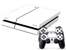 Pure White Decal Stickers for PS4 Console