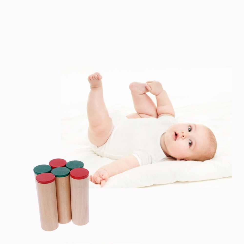 Cofanetto 12 cilindri acustici Sensoriale Giocattolo Educativo Bambino Giocattoli Educativi di Insegnamento Montessori Meiruyu Montessori Sensoriale Uditivo Casse di Risonanza Cilindri