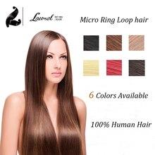 Cheap Micro Ring Loop font b Hair b font Extensions 0 5g strand 100strands 6 Colors