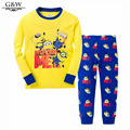 New Baby Boys clothes Despicable Me Cotton Minion girl Clothing Sets 2pcs Kids Long sleeve T shirt + Pants Children Clothes set