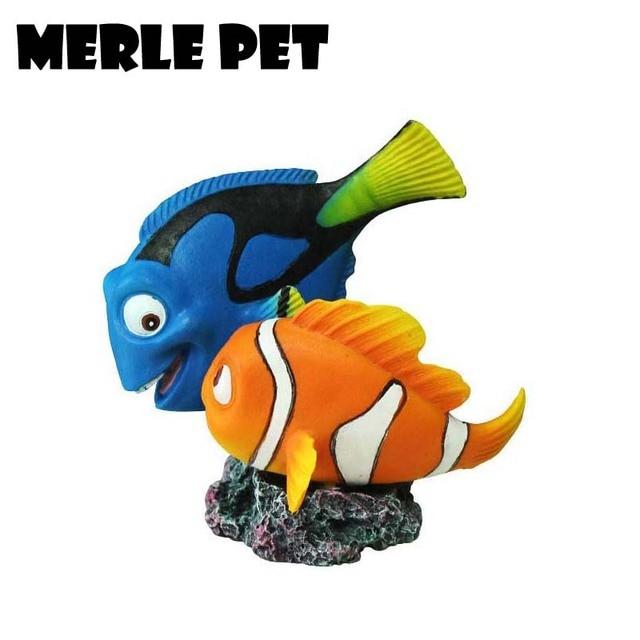 Merle Pet Resin Nemo Dory Set From Finding Nemo Cartoon Aquarium