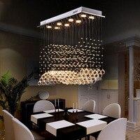 Tสร้างสรรค์สี่เหลี่ยมที่เรียบง่ายคริสตัลไฟสำหรับบาร์ห้องนั่งเล่นห้องโถงแฟชั่นLEDจี้แสงD ...