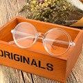 Para Los Niños Adultos de Ambos Redondo Retro Vidrios Transparentes de Las Mujeres Puntos de Calificación Lente Transparente Anteojos Marco de La Vendimia Cristales de Gafas de Los Hombres