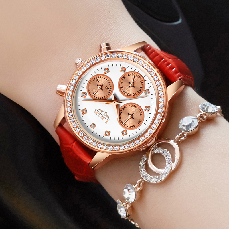 Relogio feminino Women Watches LIGE Luxury Brand Girl Quartz Watch Casual Leather Ladies Dress Watches Women Clock Montre Femme asj brand lady bracelet watches women luxury gold fashion casual clock diamond dress quartz watch relogio feminino montre femme