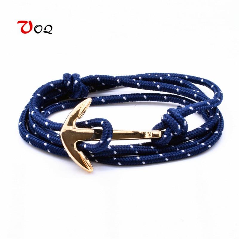 VOQ New Arrival Summer Style Red Rope Anchor Bracelet 2017 Popular Bracelets for Women Men Jewelry