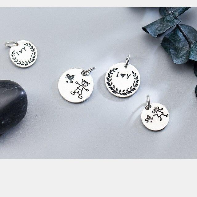 Фото винтажные круглые шармы бусины uqbing из стерлингового серебра цена