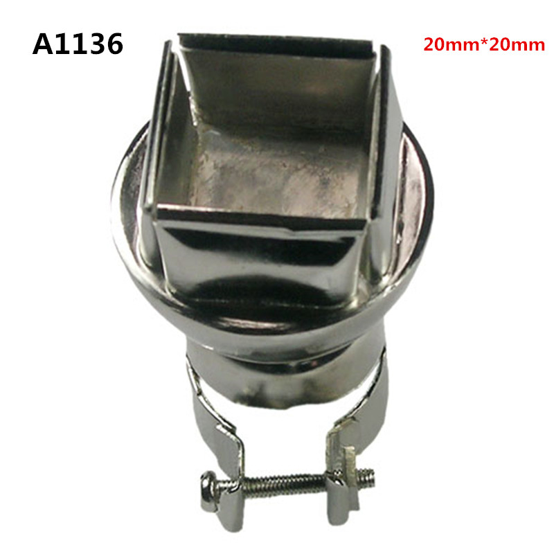 850/852 20*20mm air nozzle hot air gun hot air gun nozzle square QFP PLCC hot air nozzle weld typhoon Tsui <font><b>A1136</b></font> image