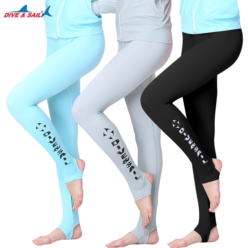 DIVE&SAIL Men Women Anti-UV Swim Pants Lycra Rushguard Form-fitting Pants Quick-drying Swimwear GYM Fitness Yoga Pants