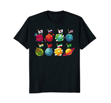 Printing On T Shirts MenS Regular Short O-Neck Cool World Country Flags Travelers, Geography Lovers Tee Shirt