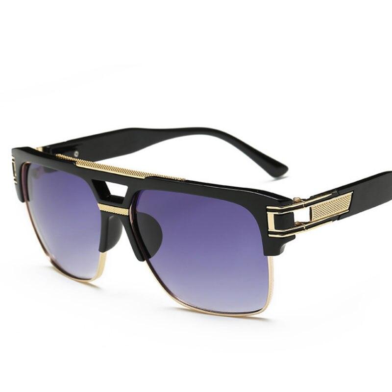 Lapos felső forró napszemüveg férfiak nők luxus márka design hölgy híresség brad pitt félszárnyas napszemüveg nagy keret üveg szemüveg