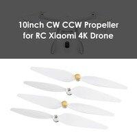 Conjunto de hélice ccw 2 pares/set original  para xiaomi mi drone versão 4k fpv  drone rc e quadcopter  reposição lâminas das partes