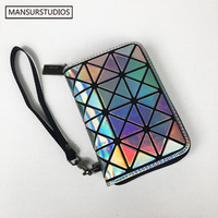 Newest Baobao Women Fashion Short Wallet Diamond Lattice Standard Wallets Unisex Short Purse Free Shipping