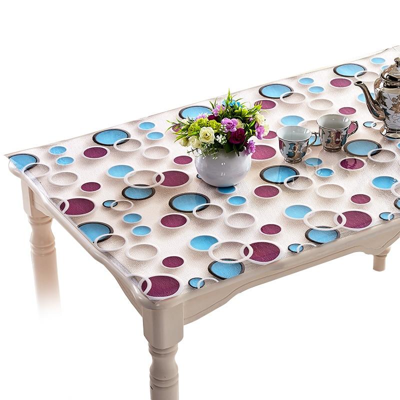 3D pvc taplak meja, Tahan air - bukti taplak meja kopi, Kaca lembut, Modern transparan piring kristal, Meja tikar penutup