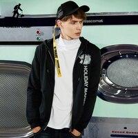 Pioneer Camp Preppy Style Hoodies Men Brand Clothing Fashion Hooded Sweatshirt Male Top Quality Black Sportswwear