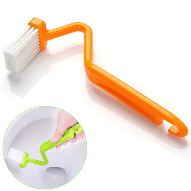 S-shaped Toliet Brushes Cleaning Kitchen Side Corners Curved Clean Window Households Brushed Cleaner Brushes Closestool