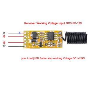 Image 4 - Kebidu Mini relais sans fil commutateur télécommande 3.5 12V contrôleur de lampe à LED dalimentation Micro récepteur émetteur pour lumières fenêtres
