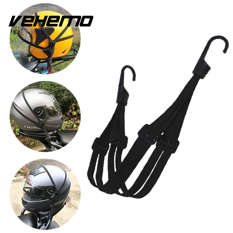 Retractable Motorcycle Helmet Storage Fixed Strap Luggage Rope Accessories
