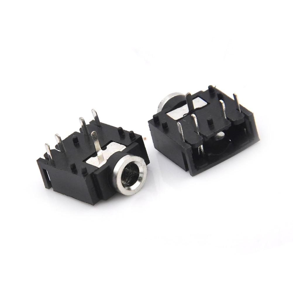 """Işıklar ve Aydınlatma'ten Konnektörler'de 10 adet 3.5mm 1/8 """"dişi ses konektörü 5Pin stereo kulaklık jakı pcb dayanağı toptan title="""