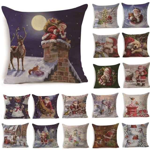 1 pz 43*43 cm Di Natale Babbo natale Modello di Cotone di Tela Coperte e Plaid C